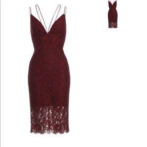 NWT✨Burgundy Lace Midi Dress
